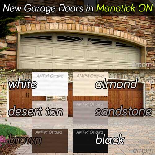 Garage doors installation services in Manotick Ontario